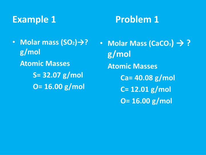 Molar mass (SO