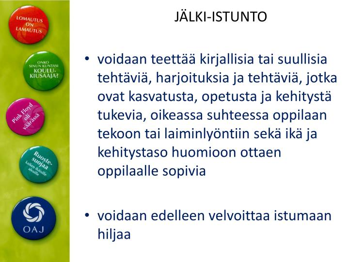 JÄLKI-ISTUNTO