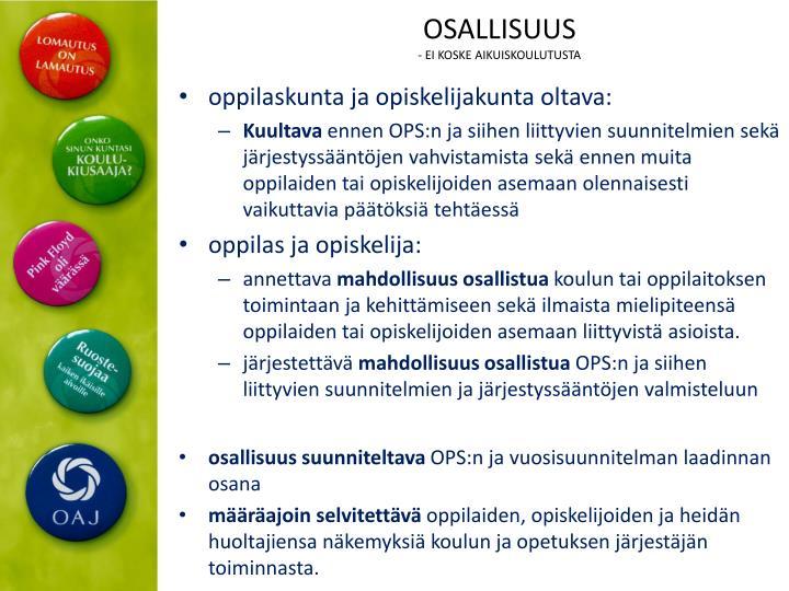 OSALLISUUS