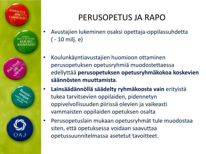 PERUSOPETUS JA