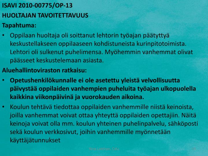 ISAVI 2010-00775/OP-13