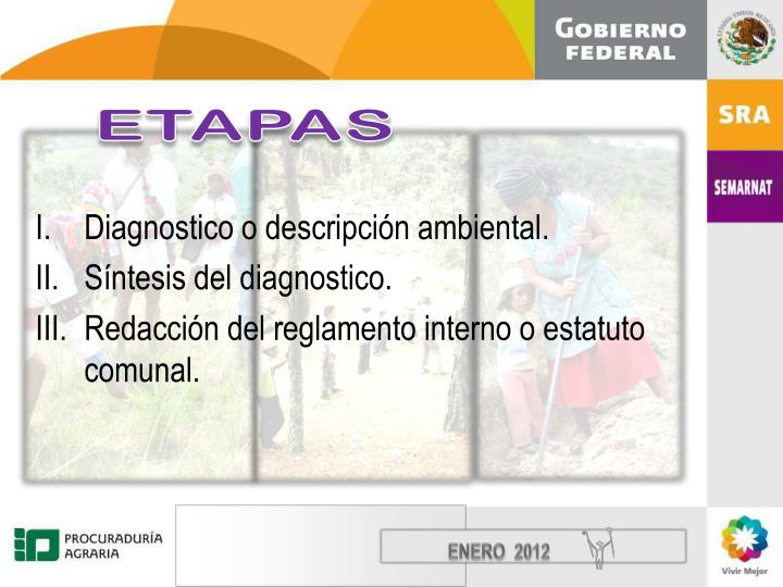Diagnostico o descripción ambiental.