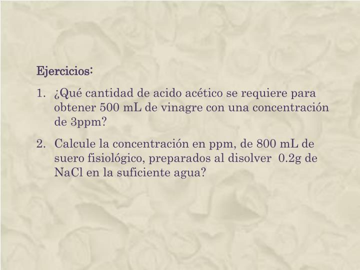 Ejercicios: