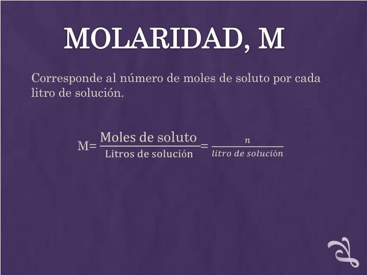 MOLARIDAD, M