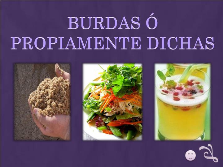 BURDAS Ó PROPIAMENTE DICHAS