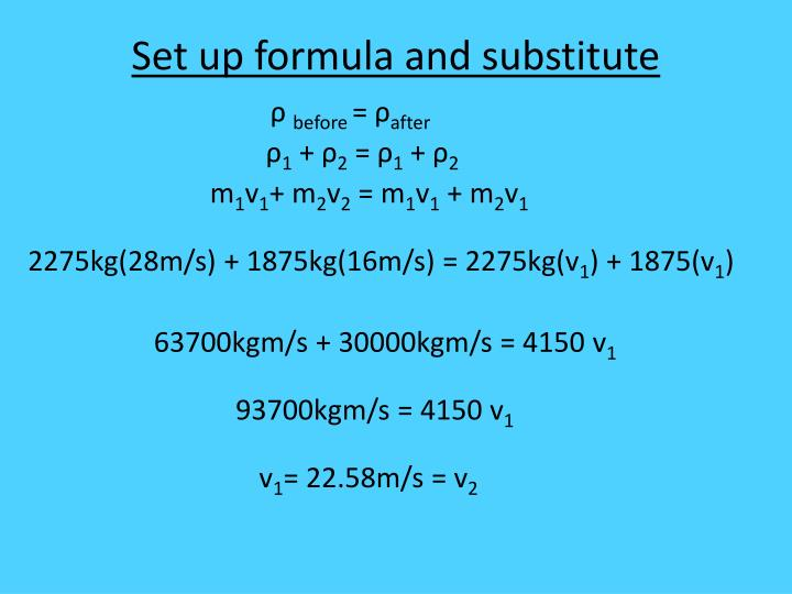 Set up formula and substitute