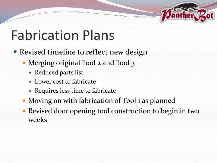 Fabrication Plans