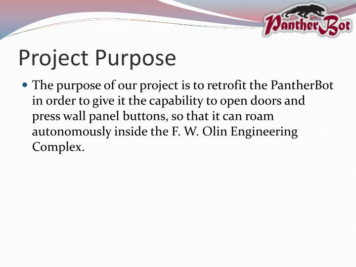 Project purpose