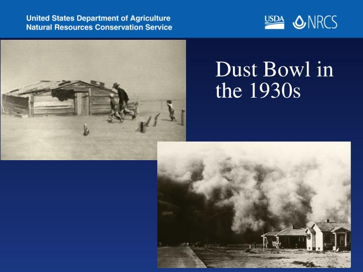 Dust Bowl in the 1930s