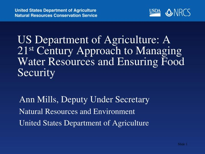 US Department of Agriculture: A 21