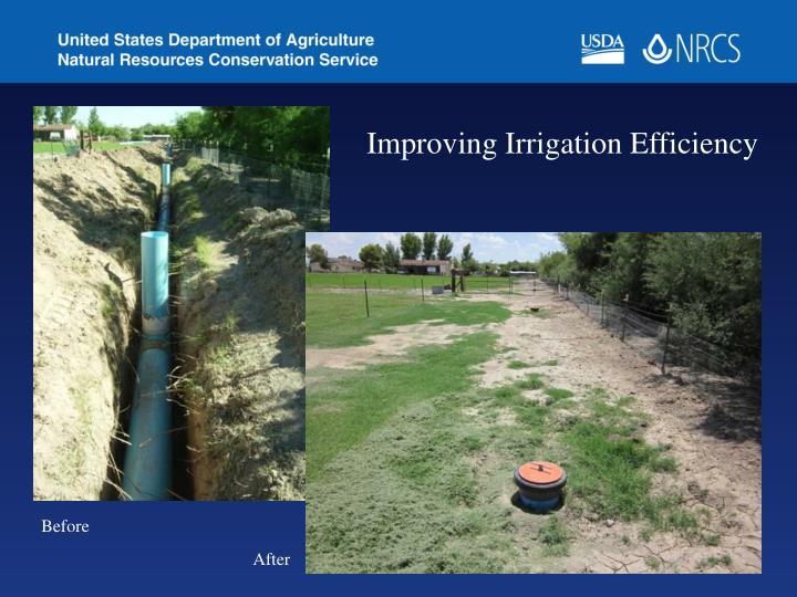 Improving Irrigation Efficiency