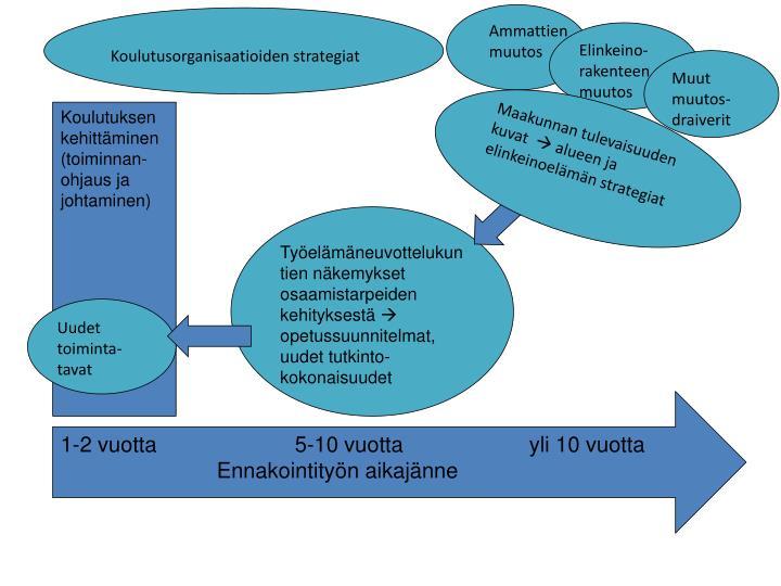 Koulutusorganisaatioiden strategiat