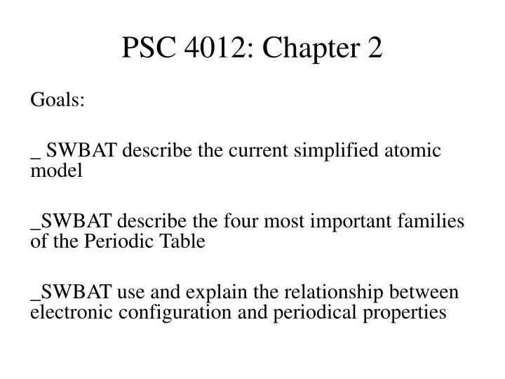 Psc 4012 chapter 2