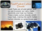 fossil fuels carbon dioxide