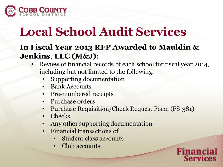 Local School Audit Services