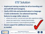 ets solution1