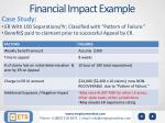 financial impact example