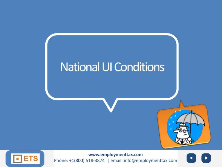 National UI Conditions