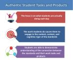 authentic student tasks and products