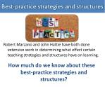 best practice strategies and structures