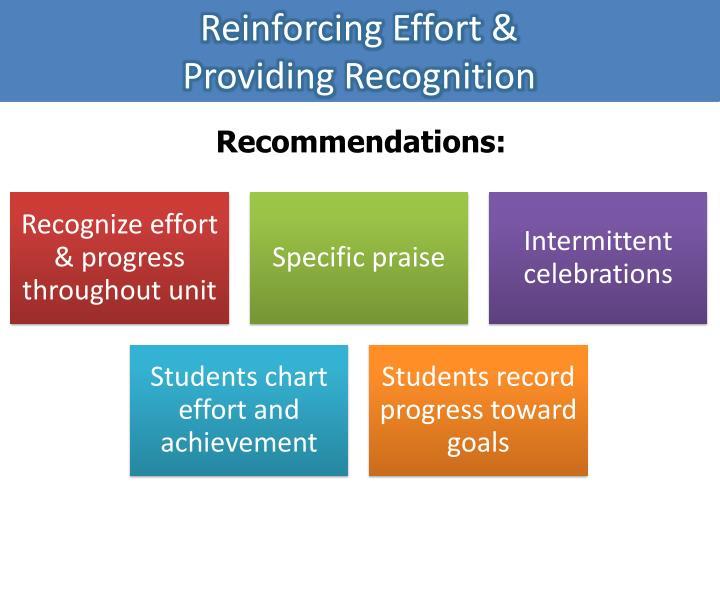 Reinforcing Effort &