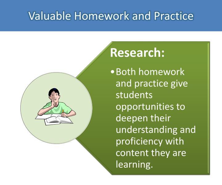 Valuable Homework