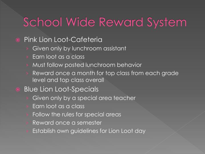School Wide Reward System