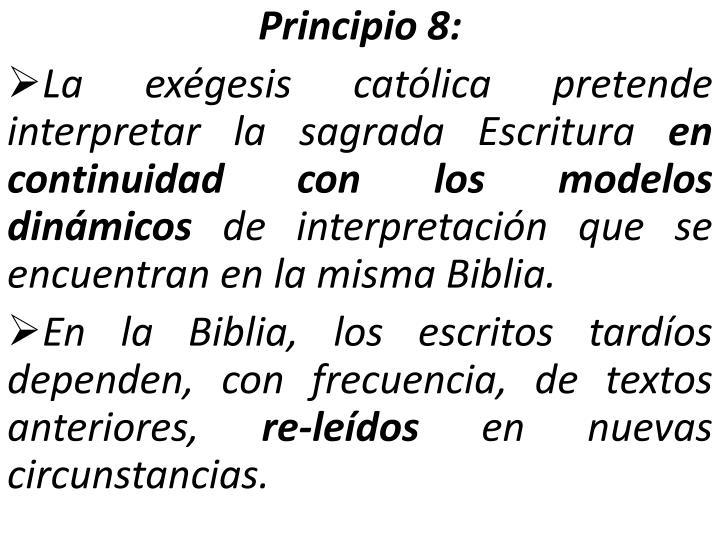 Principio 8: