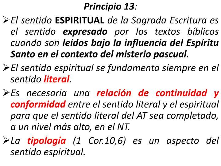 Principio 13