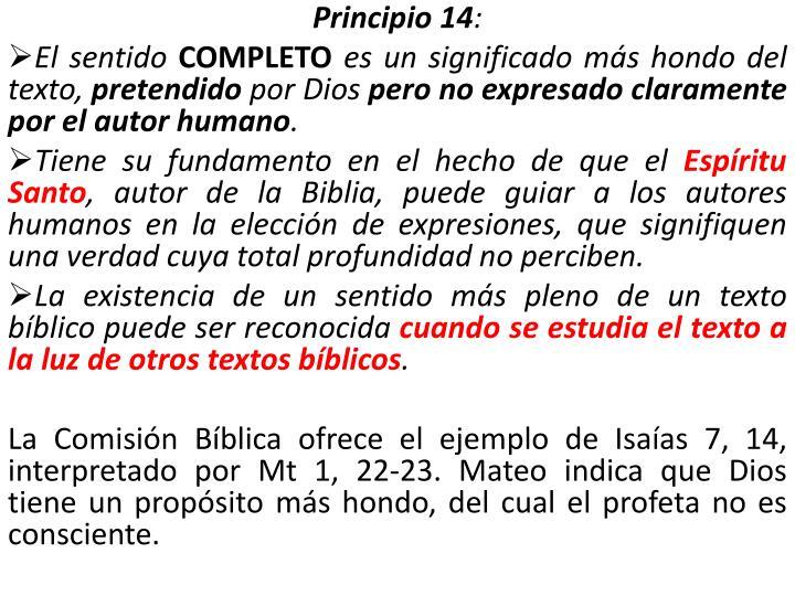Principio 14