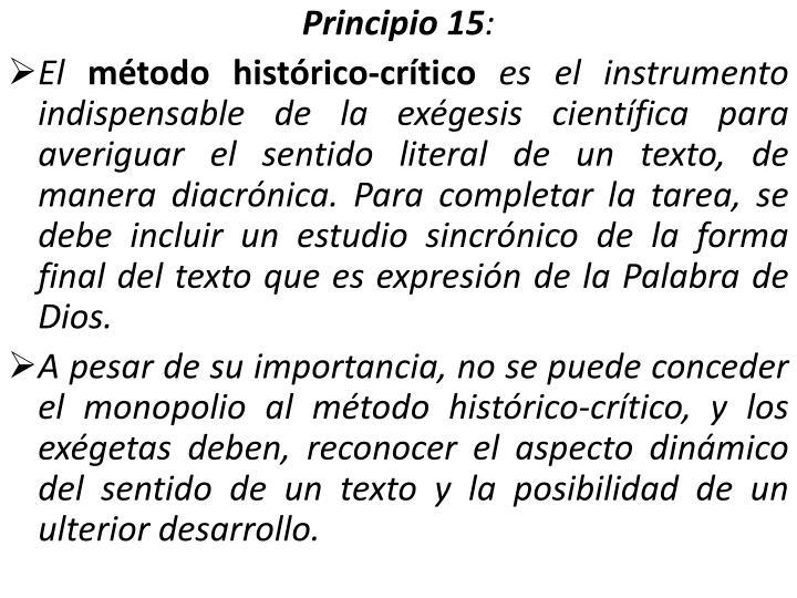 Principio 15