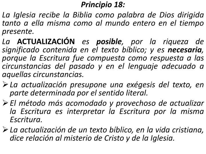 Principio 18: