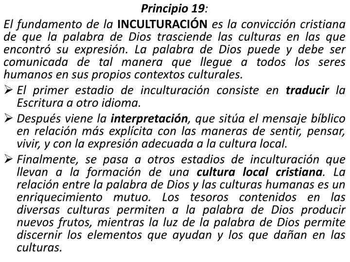 Principio 19