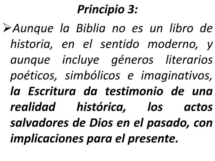 Principio 3: