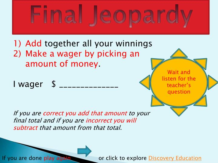 how to play final jeopardy