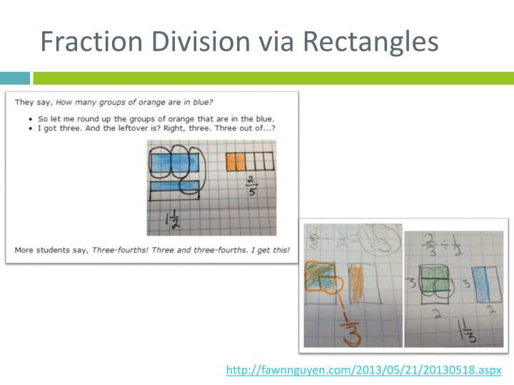 Fraction Division via Rectangles