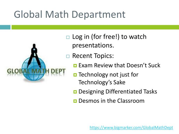 Global Math Department