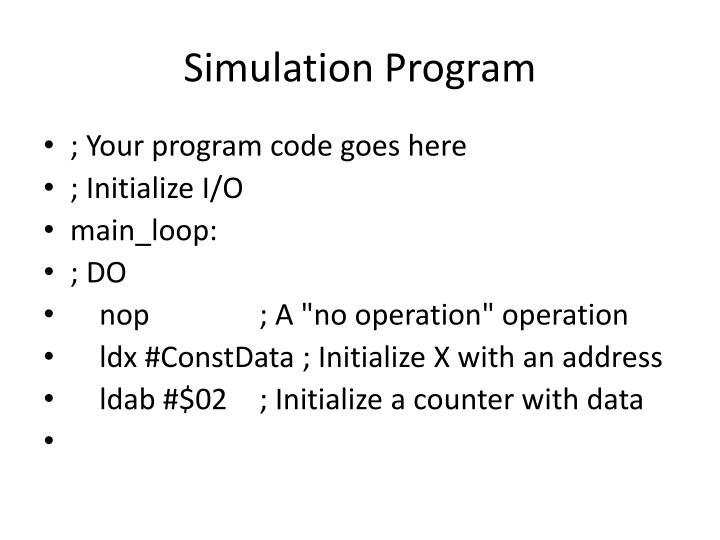 Simulation Program