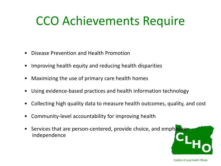Cco achievements require
