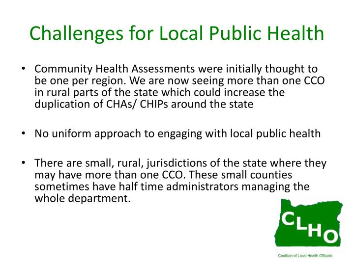 Challenges for Local Public Health