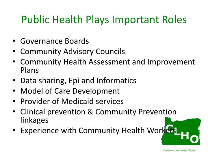 Public Health Plays Important Roles