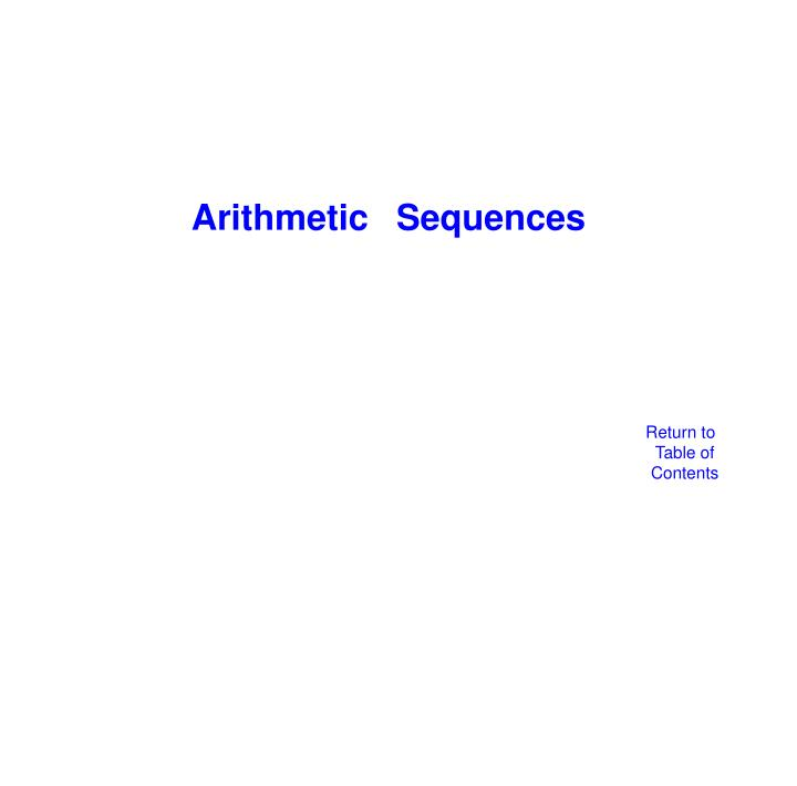 Arithmetic 