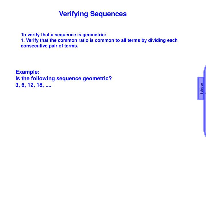Verifying Sequences