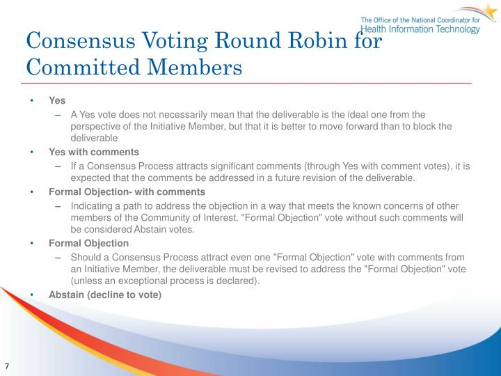 Consensus Voting Round Robin for Committed Members