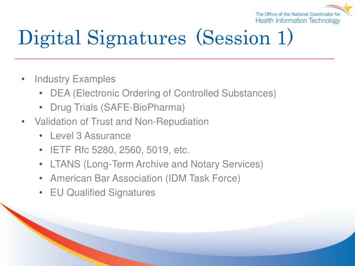 Digital Signatures(Session 1)