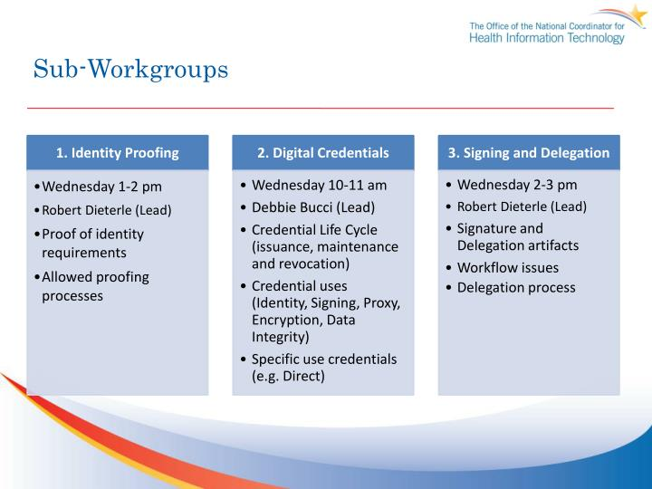 Sub-Workgroups