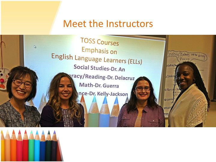 Meet the Instructors