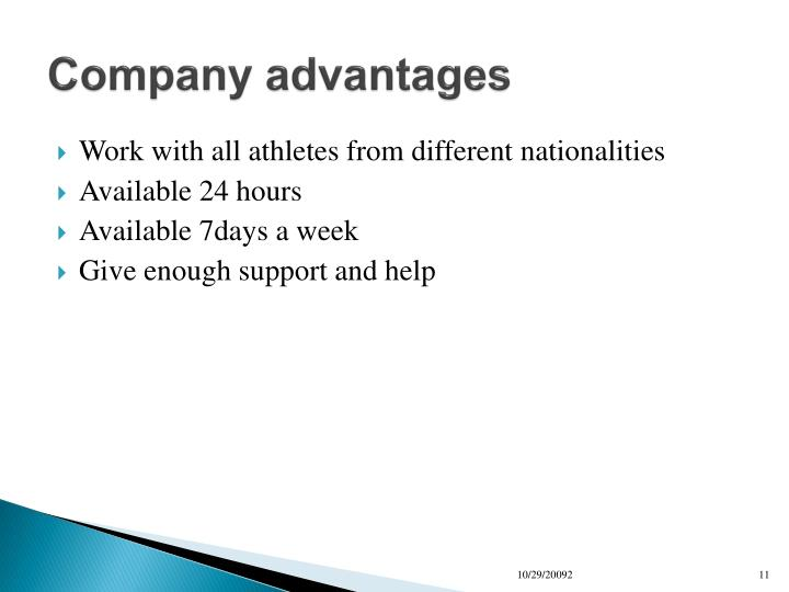 Company advantages