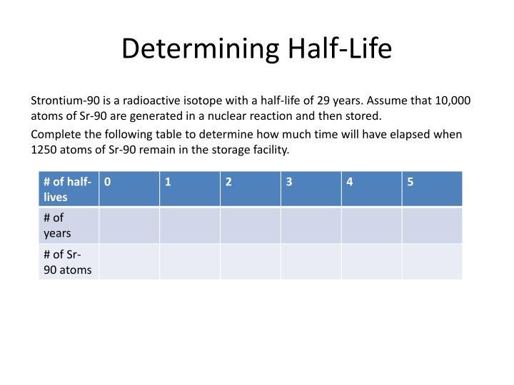 Determining Half-Life