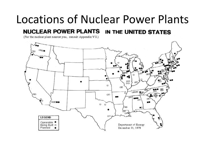 Locations of Nuclear Power Plants